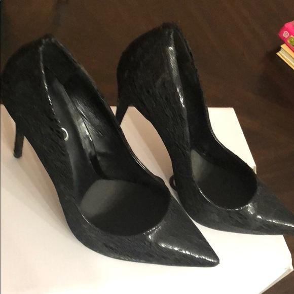 Aldo Shoes - Black ALDO pumps with lace overlay